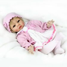 22'' Reborn Baby Blonde Hair Newborn Baby Girl Dolls Lifelike Newborn Xmas Gift