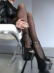 Super High Heel Women's Shoes Round Stiletto Pumps Sandals Platform Nightclub Se