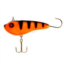 2 NEW Lindy Glow Streak Ice Fishing Lures Orange Perch 1/2 oz LGSTK316