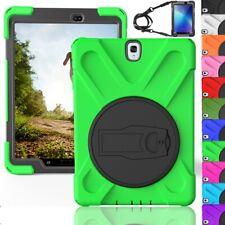 For Samsung Tab S2/ S3 8.0 9.7 Tablet Case Shockproof Stand Shoulder Strap Cover
