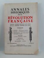 Revista Anales Históricos de La Revolution Francaise Abril-Junio 1963 N º 172