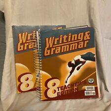 BJU Writing and Grammar Grade 8 Student w/ Teacher's and CDROM