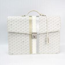Goyard Chypre AMACHYPRE2S Men's Leather,Canvas Briefcase White BF500852