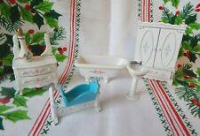 Vintage Mattel The Littles - Doll Furniture - Metal Die Cast- 5 Pc