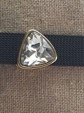 Large Gem Slide charm (Gold)  for 10mm Slide Keep Bracelet