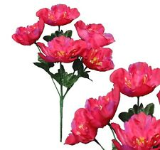 "Lot of 120 Fuchsia Peony 12"" Bush Wedding Bridal Home Decor Craft Silk Flower"