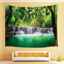 Forest waterfall Tapestry Wall Hanging for Living Room Bedroom Dorm Decor