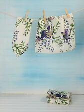 April Cornell Dishcloth Set of 4 Irresistible Iris Collection NWT 100% Cotton