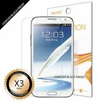 3x Anti-Scratch Clear Screen Protector Cover For Samsung Galaxy Note 2 II N7100