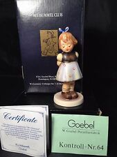 "Goebel M.l Hummel Club Figurine ""Two Hands, One Treat"" #192 Hum 493 w/ Box & COA"