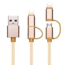 2in1 Micro USB Lightning Charger Sync Data Cable Lead Cord Wire F iphone Android
