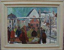 U.Verner, Marktstand in der Stadt, um 1950