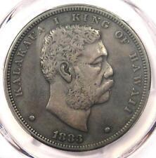 1883 Hawaii Kalakaua Dollar $1 - PCGS VF Details - Rare Certified Coin!
