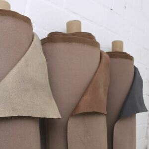Seville Distressed Look Aged Faux Leather Animal Suede Upholstery Fabric
