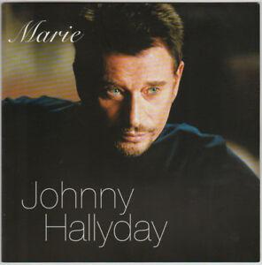 JOHNNY HALLYDAY Marie CD SINGLE PROMO FRANCE 2002 avec Livret 4 Pages