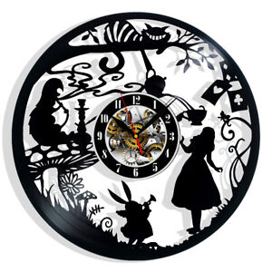 Alice's Adventures in Wonderland Vinyl Record Wall Clock Gift Decor Feast Day