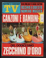 SORRISI 11/1970 ZECCHINO D'ORO POZZUOLI BRADISISMO MICHAEL JACKSON FIVE VARTAN