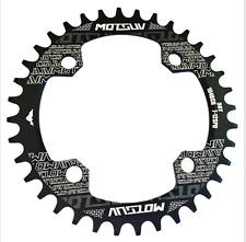 Aluminio Bicicleta Plato Platos Chainring bcd104mm 32t 34t 36t 38t