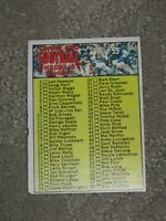 1970 Topps Football Checklist #9 Unmarked No Creases