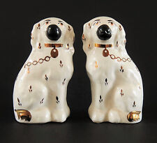 STAFFORDSHIRE DOGS - BLACK & WHITE PAIR