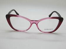 NEW Authentic VERSACE Mod. 3222-B 5151 Burgundy/Pink 54mm RX Eyeglasses