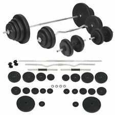 vidaXL Halterset 120 kg Barbell Dumbbell Fitness Set Training Halter Gewicht
