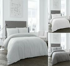New POLYESTER SEERSUCKER Ruffle Pleated Duvet Cover+Pillow Case Bedding Set Gc