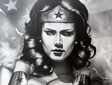 Wonder Woman - Lynda Carter Topless Print S/# 2/100 C. Smith Artist