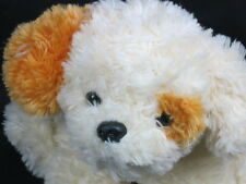SHAGGY YELLOW BROWN PUPPY DOG SPOT EYE SITTING DOWN PLUSH STUFFED ANIMAL TOY