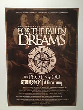 FOR THE FALLEN DREAMS 2013 Australian Tour Poster A2 Wasted Youth Changes ***NEW