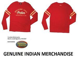INDIAN MOTORCYCLE - Wrecking Crew Long Sleeve T-Shirt - Tee Shirt - Red/Burgundy