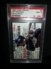 1996 Fleer Update Headliners #2 Jeff Bagwell PSA 9
