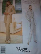 VOGUE #1703 - DESIGNER DONNA KARAN - LADIES BELOW JACKET & PANTS PATTERN  6-10uc