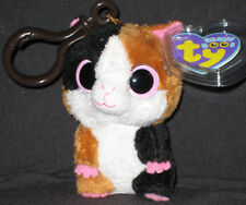 NEW with MINT TAGS TY Beanie Boo NIBBLES the Hamster  KEY CLIP