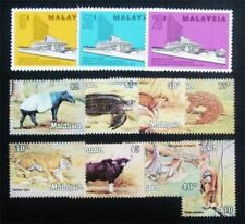 1979 Malaysia Wildlife Set High value Definitive 8v + 1976 Sarawak set  MNH