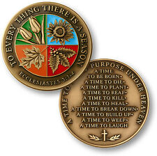 To Every Thing There Is a Season / Ecclesiastes 3:1-4 - Bronze Challenge Coin