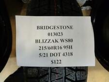 1 New Bridgestone Blizzak Ws80 215 60 16 95h Tire W Label 013023 Q9