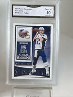 "Gem Mint 10: 2015 Tom Brady Contenders ""Season Ticket"" Football Card#79 Patriots"