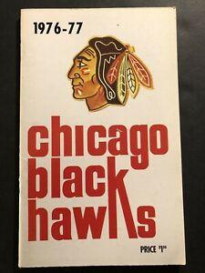 1976 77 CHICAGO BLACK HAWKS Yearbook BOBBY ORR Stan MIKITA Tony ESPOSITO Keith M