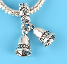 1pcs Tibetan silver Cute bell Charm bead fit European Bracelet Pendant #B13