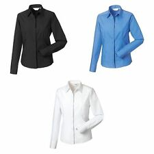 Cotton Blend Collared Fitted Tops & Shirts for Women