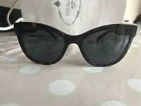 Prada Ladies Sunglasses - Cat Eye, Tortoise Shell And Blue