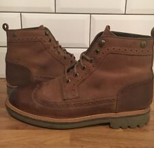 BARBOUR Brogue BROWN OILED LEATHER LACED DESERT ANKLE BOOT 7 41 RRP £149