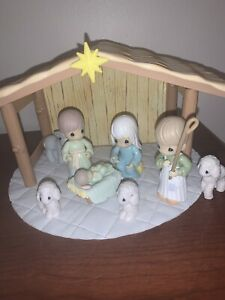 Precious Moments Nativity Set 10 Pieces