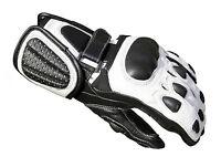 Baby Biker Kids Childrens Minimoto Motorcycle Racing Leather G-304 Glove White T
