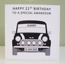 Personalised Birthday Card Mini 17th 18th 21st 30th 40th 50th Any Age Boys Mens