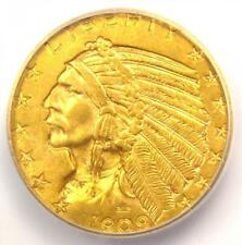 1909 Indian Gold Half Eagle $5 Coin - ICG MS64 - Rare in MS64 - $2,690 Value!