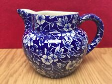 Heron Cross Pottery Staffordshire, Victorian Calico Chintz 1/2 Pint Milk Jug EXC