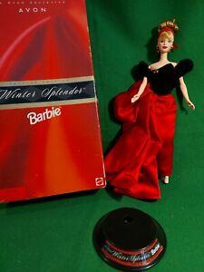 BARBIE DOLL - AVON SPECIAL EDITION - WINTER SPLENDOR -1990's - ORIGINAL BOX