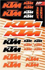 "KTM V.4 STICKER KIT 9""X15"" MX DIRTBIKE VINYL KTM DECAL UNIVERSAL ORANGE"